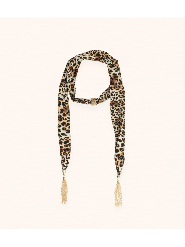 SPOTTED SCARF NECKLACE