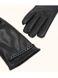 GLOVES WITH CHAIN DETAIL