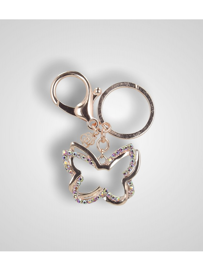 STRASS BUTTERFLY KEYCHAIN